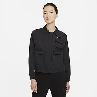 Nike Sportswear Swoosh เสื้อแจ็คเก็ตแบบทอผู้หญิง