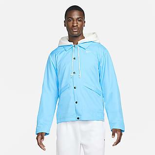 Nike Therma-FIT Standard Issue Sudadera con gorro de básquetbol acondicionada para el invierno para hombre