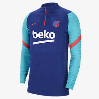 FC Barcelona Vaporknit Strike 男款 1/4 開襟式足球訓練上衣