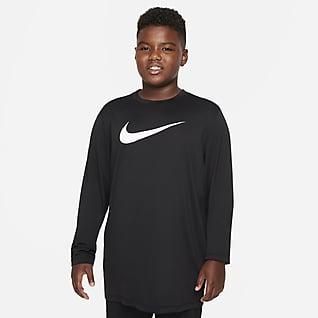 Nike Dri-FIT Playera de manga larga para niños talla grande (talla extendida)