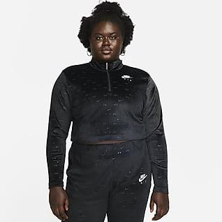 Nike Air Women's Velour 1/4-Zip Long-Sleeve Top (Plus Size)