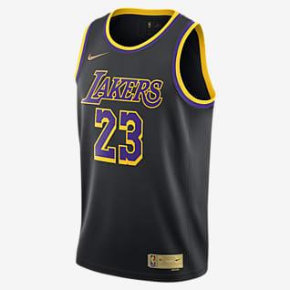 LeBron James Lakers Earned Edition Camiseta Nike NBA Swingman para hombre