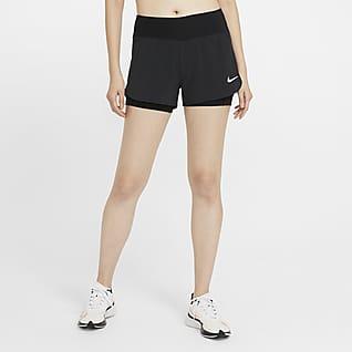 Nike Eclipse 2-in-1 hardloopshorts voor dames