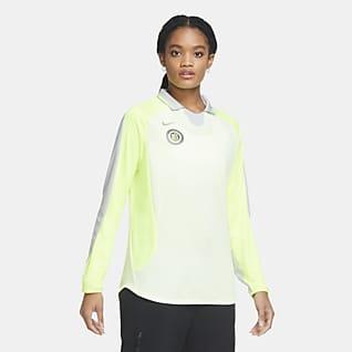Nike F.C. Långärmad fotbollströja för kvinnor