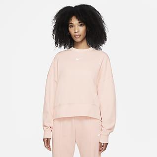 Nike Sportswear Collection Essentials Extra stor fleecetröja med rund hals för kvinnor