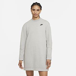 Nike Sportswear Tech Fleece Dámské šaty s dlouhým rukávem