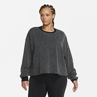 Nike Yoga Damesshirt met ronde hals (grote maten)