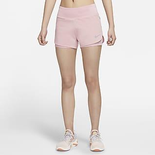 Nike Eclipse 2-in-1 女子跑步短裤