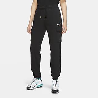 Nike Sportswear Calças cargo de lã cardada com corte folgado para mulher