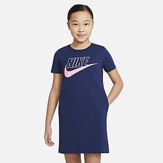 Nike Sportswear 大童 (女童) T 恤連身裙