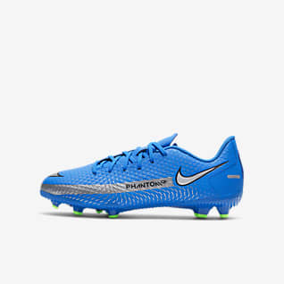 Nike Jr. Phantom GT Academy MG 小/大童多種場地足球釘鞋