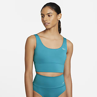 Nike Essential Prenda para la parte superior de Midkini de cuello redondo para mujer