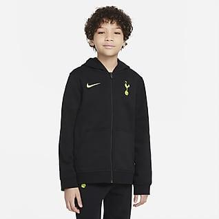 Tottenham Hotspur Sweat à capuche et zip en tissu Fleece pour Enfant plus âgé
