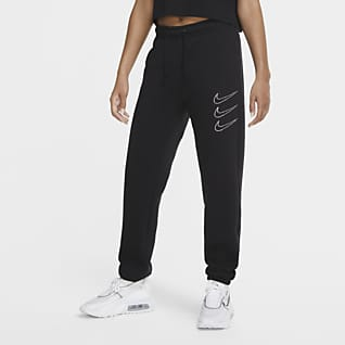 Nike Sportswear Rhinestone Pantaloni in fleece - Donna