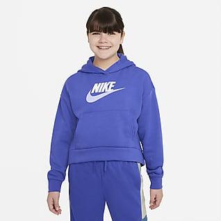 Nike Sportswear Club Fleece Sudadera con capucha para niña talla grande