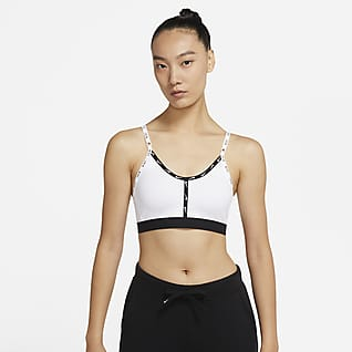 Nike Dri-FIT Indy Logo Tape 女子低强度支撑运动内衣
