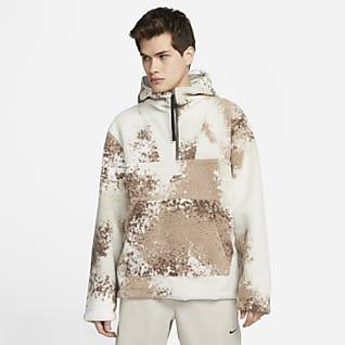 Nike Sportswear Sport Essentials+ Ανδρική μπλούζα με κουκούλα και φερμουάρ στο μισό μήκος