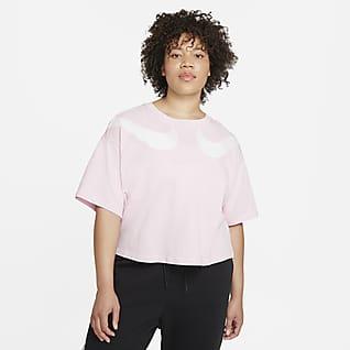 Nike Sportswear Swoosh Playera corta para mujer (talla grande)