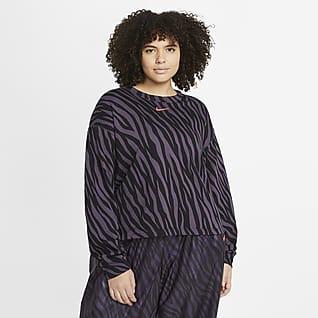 Nike Sportswear Icon Clash Kerek nyakkivágású női pulóver (plus size méret)