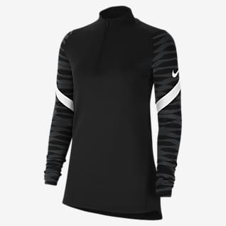 Nike Dri-FIT Strike Voetbaltrainingstop met korte rits voor dames