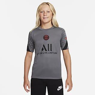 Paris Saint-Germain Strike Older Kids' Nike Dri-FIT Short-Sleeve Football Top