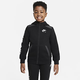 Nike Air Sudadera con capucha de cierre completo para niños talla pequeña