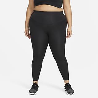 Nike Swoosh Run Normal Belli 7/8 Kadın Koşu Taytı (Büyük Beden)