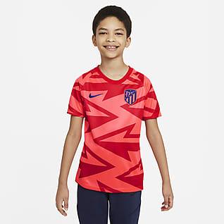 Atlético Madrid Older Kids' Pre-Match Short-Sleeve Football Top