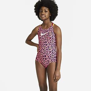 Nike Einteiliger Badeanzug mit Spiderback für ältere Kinder (Mädchen)