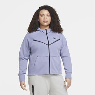 Nike Hoodie Sweatshirt Jacket Outerwear Girls M XL Navy Blue Velour New