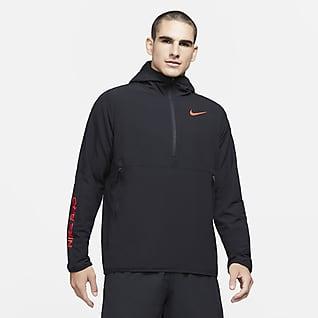 Nike Pro Pánská mikina skapucí akrátkým zipem