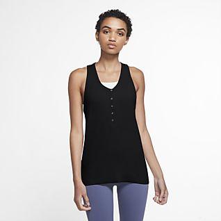 Nike Yoga Canotta Henley - Donna