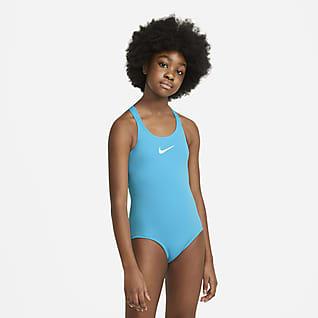 Nike Essential Traje de baño de una sola pieza con espalda deportiva para niñas talla grande