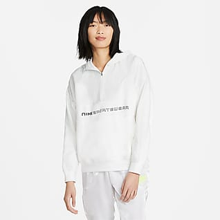 Nike Sportswear Sudadera con capucha de cierre 1/4 para mujer