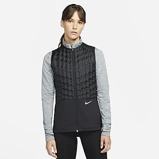 Nike Therma-FIT ADV Γυναικείο αμάνικο τζάκετ για τρέξιμο με γέμισμα από πούπουλα