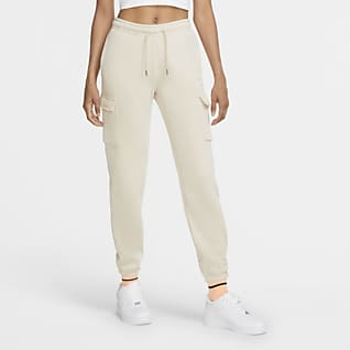 Nike Sportswear Ruimvallende cargobroek van fleece voor dames