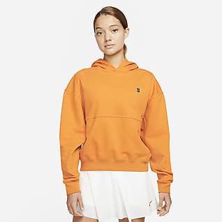 NikeCourt Fleece Kadın Kapüşonlu Tenis Üstü
