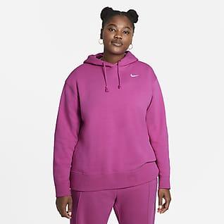Nike Sportswear Női belebújós polárpulóver (plus size méret)
