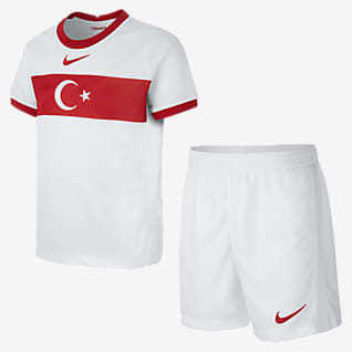 Turquía de local 2020 Kit de fútbol para niños talla pequeña