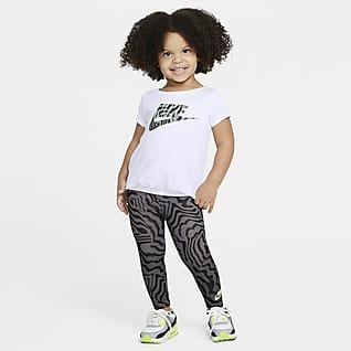 Nike Σετ εμπριμέ μπλούζα και κολάν για νήπια