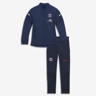 Paris Saint-Germain Strike Dzianinowy dres piłkarski dla dużych dzieci