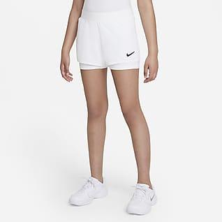 NikeCourt Dri-FIT Victory Tennisshorts til store barn (jente)