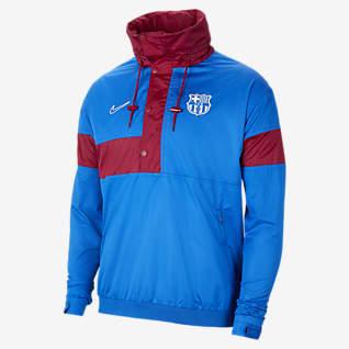 FC Barcelona Men's Soccer Anorak Jacket