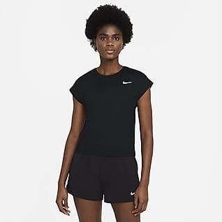 NikeCourt Dri-FIT Victory Kurzarm-Tennisoberteil für Damen