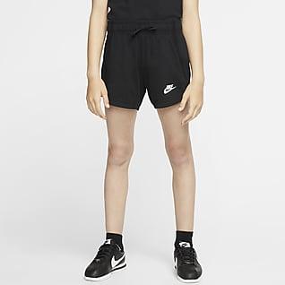 Nike Sportswear Шорты из ткани джерси для девочек школьного возраста
