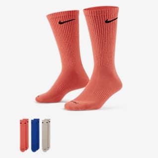 Nike Everyday Plus Pánské lehké středně vysoké tréninkové ponožky (3 páry)