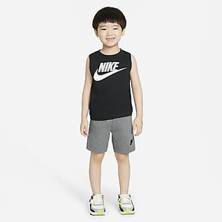 Nike Conjunto de camiseta de tirantes y shorts para niños pequeños