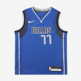 达拉斯独行侠队 (Luka Dončić) Icon Edition Nike NBA Replica Jersey 幼童球衣