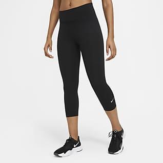 Nike One Leggings capri de tiro medio para mujer