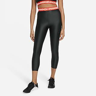 Nike Pro Женские слегка укороченные леггинсы с высокой посадкой